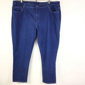 Avenue Denim Skinny Stretch Blue Jeans Plus Sz 26P